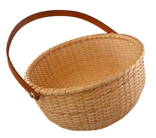 - Nantucket Single Handle Round Woven Basket (X-Tra Large - 10 1/2