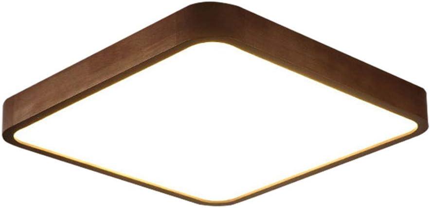36W LED Deckenlampe Modern Nussbaum Holz und Acryl Decken-Beleuchtung Led Dimmbar mit Fernbedienung Wohnzimmer-Lampe Einfach Rund Deckenleuchte Schlafzimmer Bad B/üro Kinderzimmer,/φ50CM
