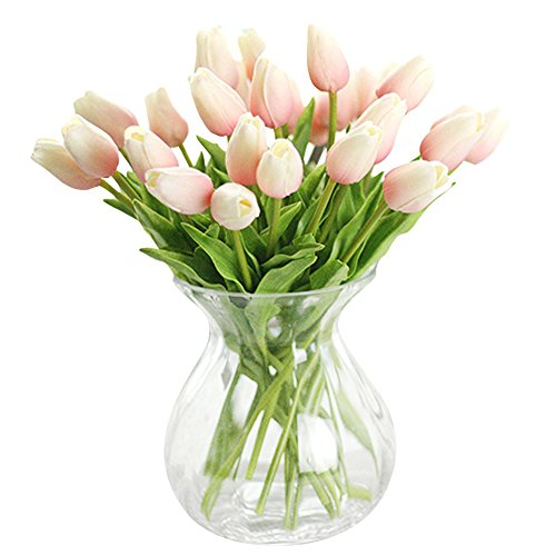 XHSP 30 pcs Real-touch Artificial Tulip Flowers Home Wedding Party Decor -