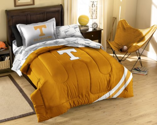 The Northwest Company NCAA Tennessee Volunteers Twin Bed in a Bag with Applique Comforter