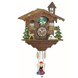 Trenkle Kuckulino Black Forest Clock Swiss House with Quartz Movement and Cuckoo Chime TU 2001 SQ