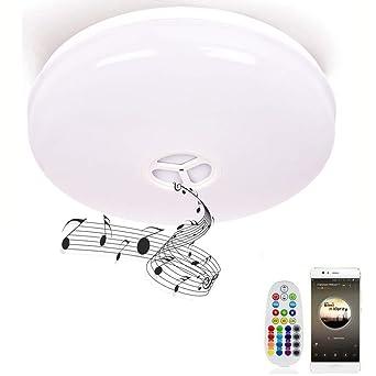 Deckenleuchte Mit Fernbedienung Und Bluetooth Lautsprecher Horevo
