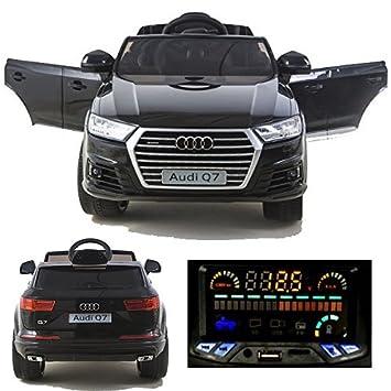 Audi Q7 quattro Kinderauto Kinderfahrzeug Kinder Elektroauto 2x Motoren 12V blau Kinderfahrzeuge