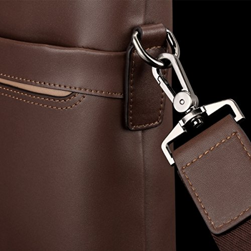 Hombres Bolso Cruz Sección Hombro Messenger Bag Negocio Ocio Maletín Ordenador Bolso Mochila Black