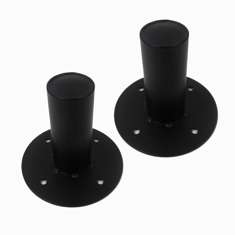 Seismic Audio - Pair of Metal PA/DJ Tripod Speaker Stand Mounts New Adapters - Top Hat Style by Seismic Audio