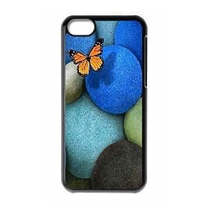 XiFu*Meiiphone 4/4s Case,Lonely Butterfly Blue Rocks Hard Shell Back Case for Black iphone 4/4s Okaycosama358738XiFu*Mei