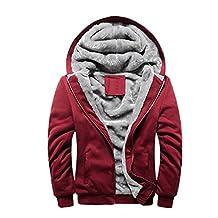 Rocky Sun Men Winter Comfortable Hooded Jacket Hoodie Faux-Fur Lined Warm Coat