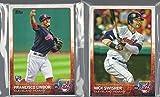 2015 & 2016 Topps Series 1 & 2 & Update Cleveland Indians 2 Team Set Lot 62 Cards Francisco Lindor Rookie Card Roberto Perez Rookie Card Andrew Miller Corey Kluber Trevor Bauer