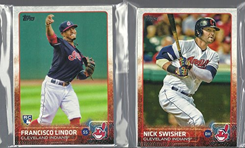 2015 & 2016 Topps Series 1 & 2 & Update Cleveland Indians 2 Team Set Lot 62 Cards Francisco Lindor Rookie Card Roberto Perez Rookie Card Andrew Miller Corey Kluber Trevor Bauer