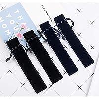20pcs Velvet Drawstring Pen Pouch, Pen Bag/Holder (Black Color)