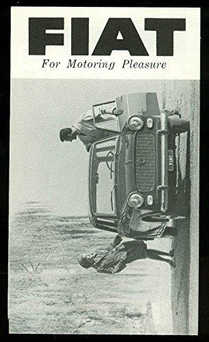 Fiat for Motoring Pleasure 600D 1110D 1200 Spider sales folder 1962