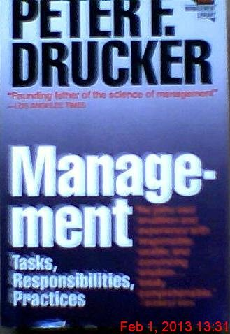 Management Tasks Responsibilities Book By Peter F Drucker