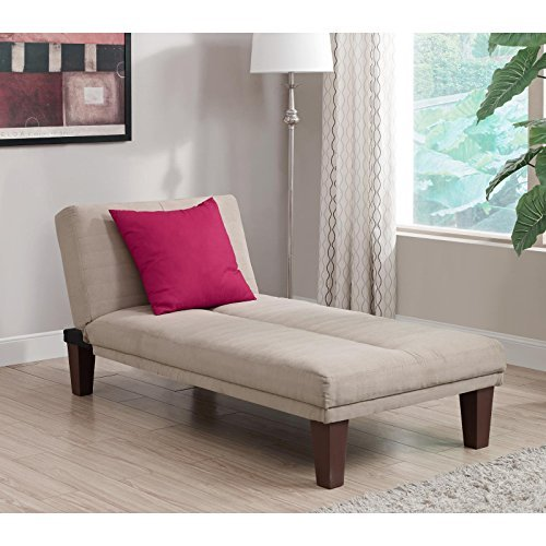 - Contemporary Chaise Lounge - Seat Couch Sleeper Indoor Home Furniture Living Room Bedroom Guest Relaxation