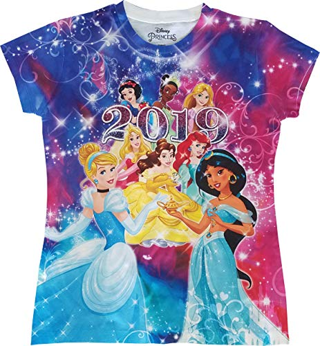 Disney Ice 2019 - Disney Youth Girls 2019 Sublimated Princess Shirt, Small