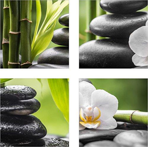 Fliesenaufkleber Fliesenbild Steine Bambus Wellness Spa Aufkleber
