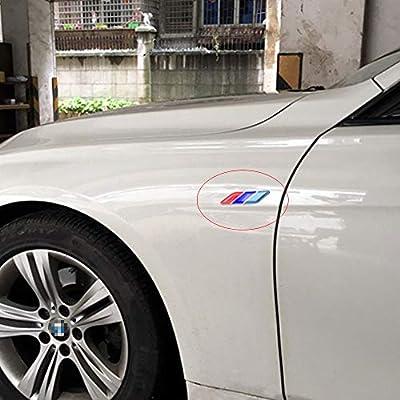 LLJ 2Pcs/Pair 3D Tricolor Flag Emblem Badge for All Models: Automotive