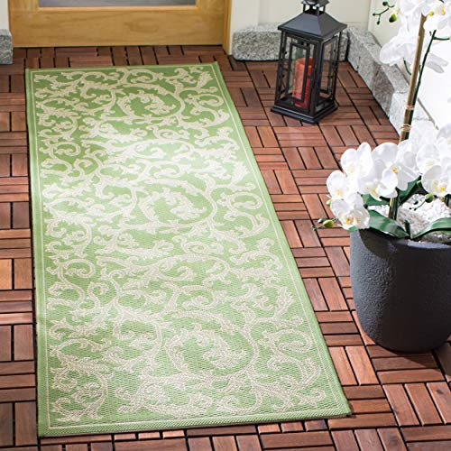 Safavieh Courtyard Collection CY2098-1E06 Olive and Natural Indoor/ Outdoor Runner (2'3