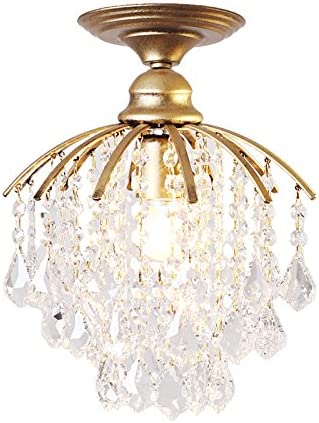 KY LEE Pendant Lights Bronze Crystal Light Antique Ceiling Lighting Fixture