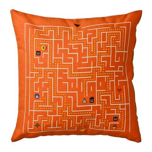 IKEA SLINGRIG - cojín, blanco, naranja - 40 x 40 cm: Amazon ...