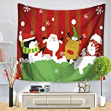 Coohole Xmas Indian Wall Hanging Decor Christmas Party Queen Bedspread Throw Tapestry (A)