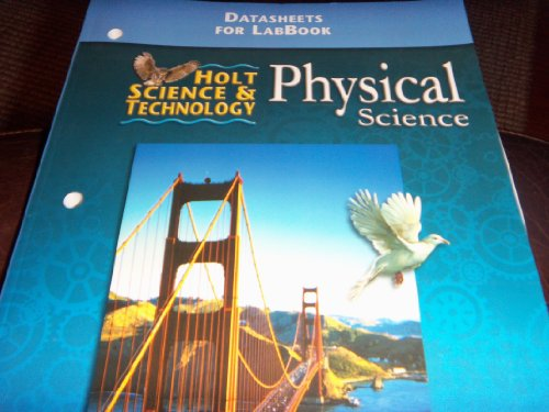 Holt Science&Technology Physical Science Datasheets for LabBook