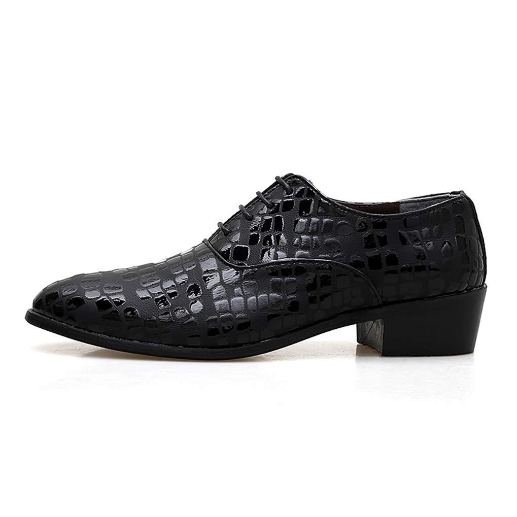 2ce90eec837f6 Amazon.com: Men Formal Dress Shoes Snake Skin Fashion High Heels ...