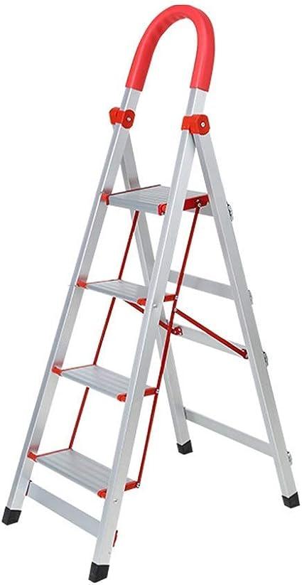 Aleación de aluminio Espesar Escalera, Teniendo Antiséptico seguridad tijera metal seguro de escalera/Apoyabrazos Diseño Dos talles /, dos colores (color: A, Tamaño: 42 * 67 * 137 cm) XIUYU: Amazon.es: Coche y moto