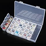 Jocestyle Plastic 28 Slots Nail Art Tools Jewelry Storage Box Case Organizer Beads