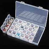 Jocestyle Plastic 28 Slots Nail Art Tools Jewelry Storage Box Case Organizer Beads