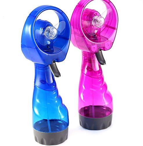 Wal front Mini Ventilador portátil atomizador Compacto de Mano para Estudiantes, Estudiantes, Viajes, Oficina, Uso, Rojo, 1