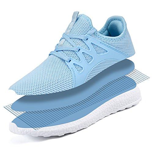 Rutschfeste Damen Sommerschuhe Hell Sneaker Laufschuhe Herren blau Sportschuhe ZOCAVIA vwxqXPzP