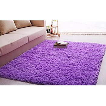 purple rugs for bedroom igirls shaggy s room ultra soft area 16888