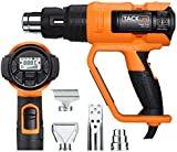 Heat Gun, Tacklife HGP72AC 2000W Heavy Duty Hot Air Gun with Variable Temperature Wind Speed Adjustment and Memory Settings, Large LCD Display Electric Heat Gun