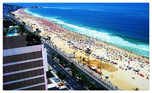 Copacabana-Beach-Rio-De-Janeiro-Brazil tourist souvenir Furniture & Decorations magnet fridge magnets