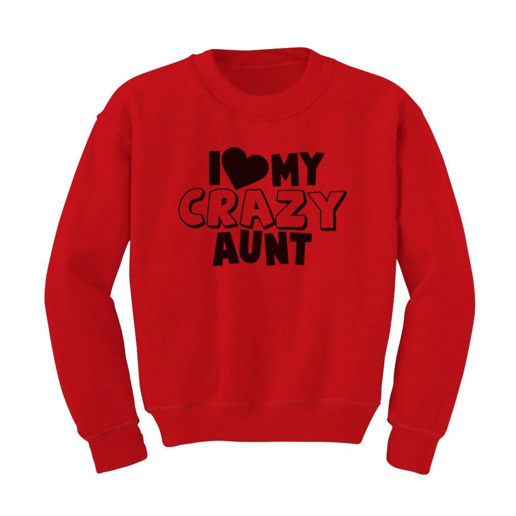 Tstars I Love My Crazy Aunt Kids Sweatshirt