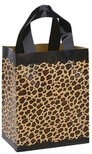 Amazon.com: Leopard satinado y plástico bolsas de regalo con ...