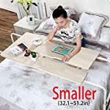 KOMOREBI Overbed Table on Wheels Over The Bed Table Laptop Cart Laptop Desk Mobile Computer Desk Sofa Table for Office Hospital Bedroom with Adjustable Height and Width