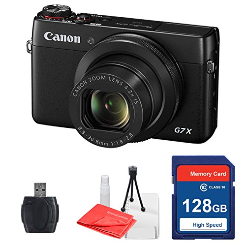 canon powershot g7 x g7x with 128gb memory card deluxe. Black Bedroom Furniture Sets. Home Design Ideas