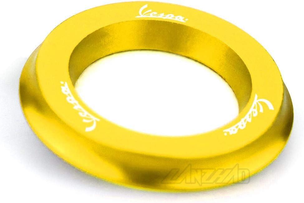 RONGLINGXING Powersports Teile Motorrad Z/ündschloss Ring Abdeckkappe CNC Aluminium Zubeh/ör for Piaggio Vespa GTS 250 300 Sprint Primavera 125 150 LX150 Color : Black