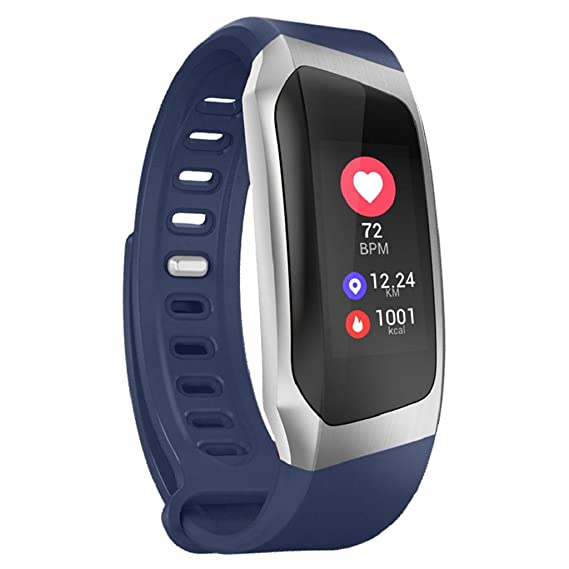 QUICKLYLY Pulsera Actividad,E18 Pulsera Inteligente para Mujer Hombre Reloj Fitness Monitor de Sueño y