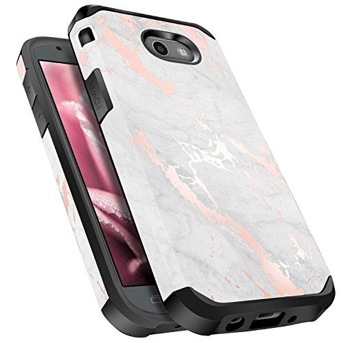 (for Samsung Galaxy J3 Emerge / J3 Prime / J3 Mission / J3 Eclipse / J3 2017 / J3 Luna Pro/Sol 2 / Amp Prime 2 / Express Prime 2 Case, Miss Arts Girls Dual Layer Shockproof Cover Case -Marble)