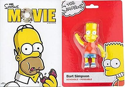 Amazon Com Cowaaabungaaa Dudes The Simpsons Movie Dvd Bart Simpson 4 5 Bendable Figure 2 Item Bundle Movies Tv