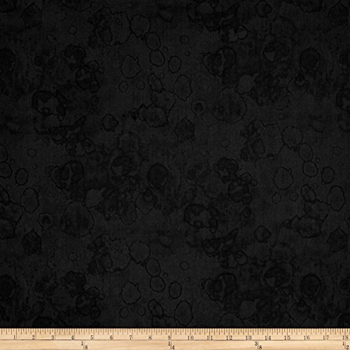Maywood Studio Salem Quilt Show Ink Blots Charcoal Black Fabric By The Yard Show Cotton Quilt Fabric