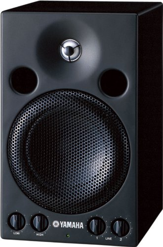 Yamaha MSP3 Powered Monitor Speaker 20-Watts Amplifier, 4-Inch Cone Tweeter, 2-Way System by Yamaha