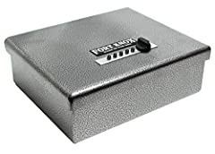 """Strength and Reliability are two words that best describe this beautifully crafted Pistol Box. With a thick 10-gauge steel body and a 3/16"""" wrap-around door this safe is not only practically impossible to break open but it would be insanely d..."""