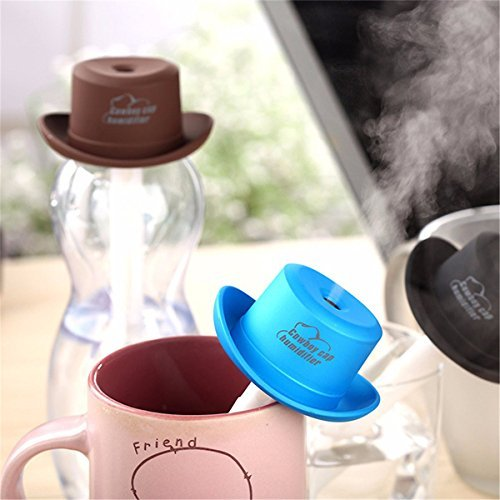 Portable Mini USB Humidifier Water Cowboy Cap Air Diffuser Fresher Mist Maker For Office Home