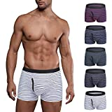 Ddgoo Mens Boxer Briefs 5 Pack No Ride-up Comfortable Breathable Cotton Sport Short Leg Fly Underwear XXL