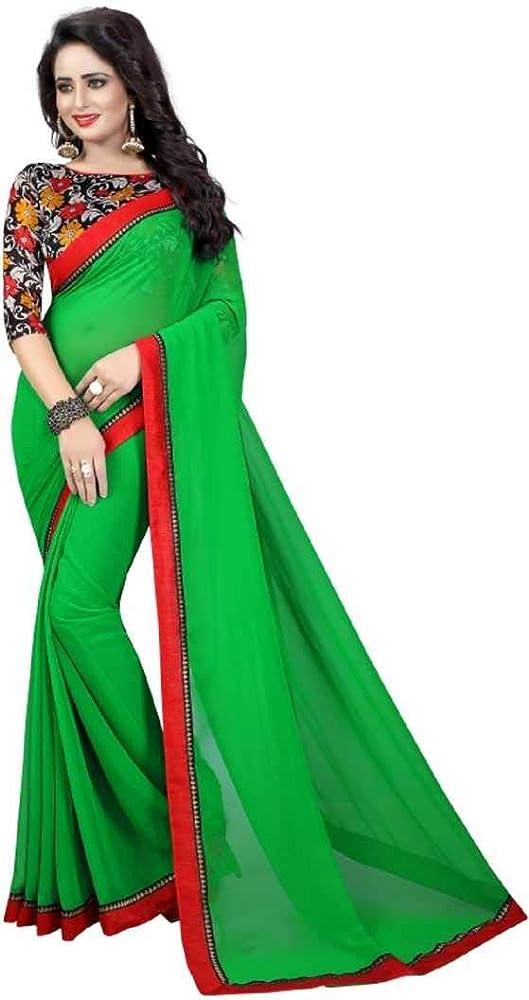 Fiesta de Bollywood India Desgaste Georgette Sari Colección tradicional Sari, Función, Carnaval, Vestido de cumpleaños, Cumpleaños, Vestido indio, Vestido Hippie - Verde: Amazon.es: Ropa y accesorios