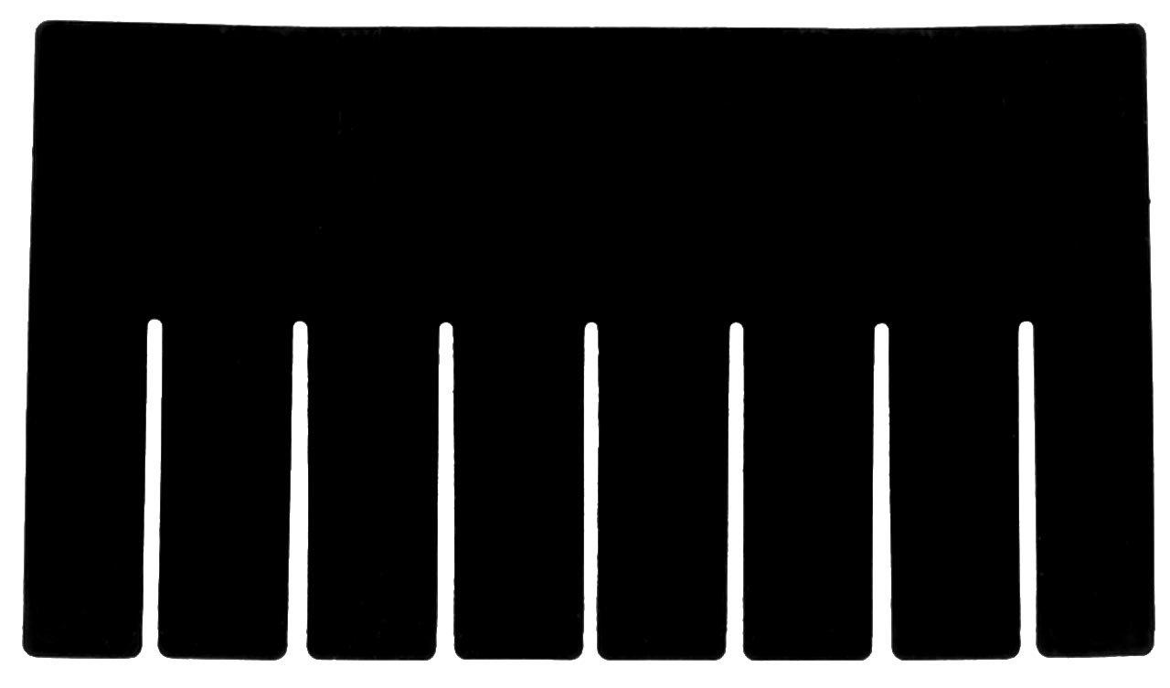 akro-mils 41105 Short Divider for 33105 akro-grid Slotted Dividerプラスチックトートバッグボックス。パックの6 B00027FKOW
