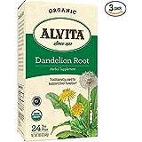 Alvita Dandelion Root Tea Bag, Organic, 24 Count (3 Pack)